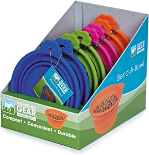 Guardian Gear Bend-a-Bowl Display of Dog Bowls (8 Pack), Small