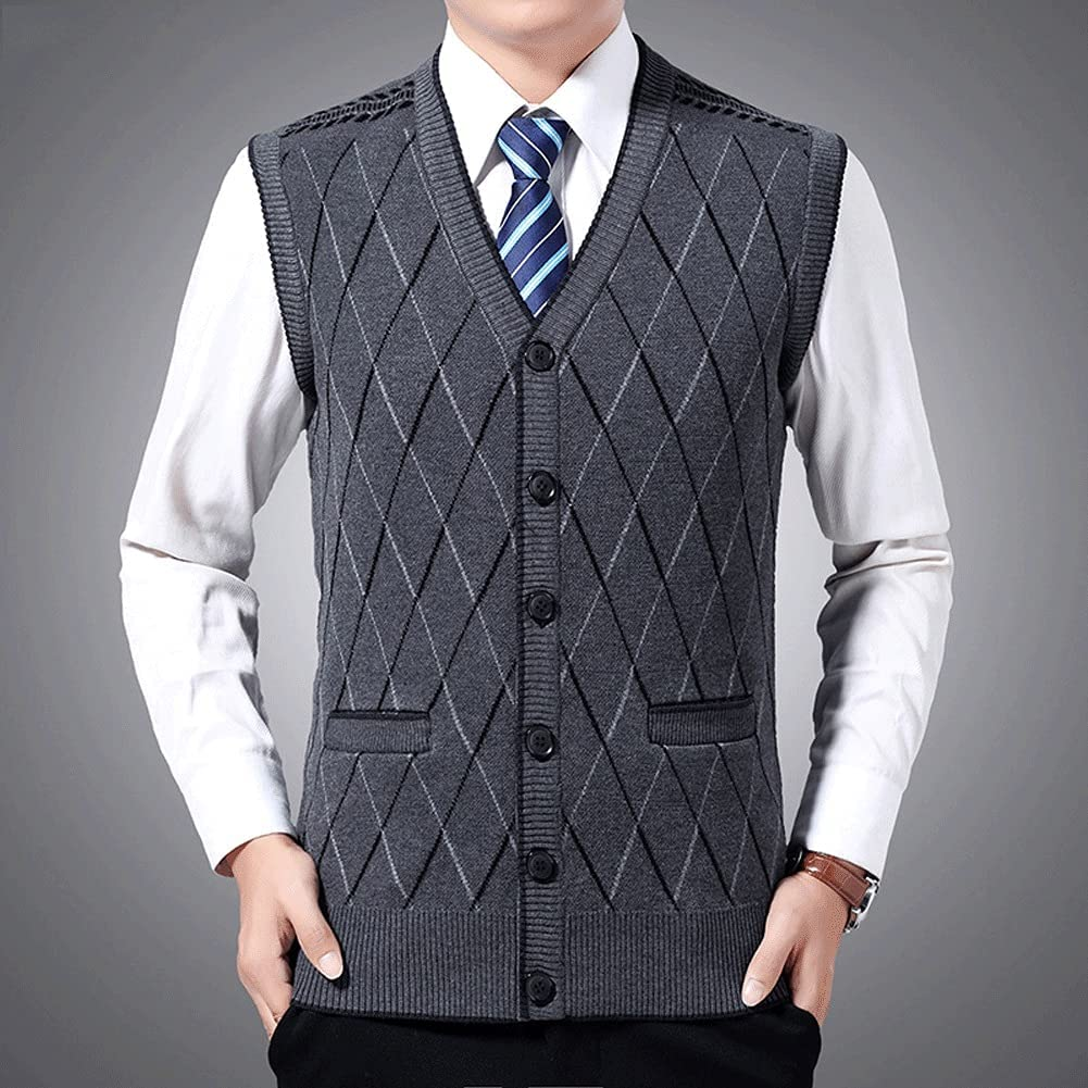 Many popular brands GYZCZX Sweaters Men Pullovers Vest Slim K Max 73% OFF Jumpers Fit Sleeveless