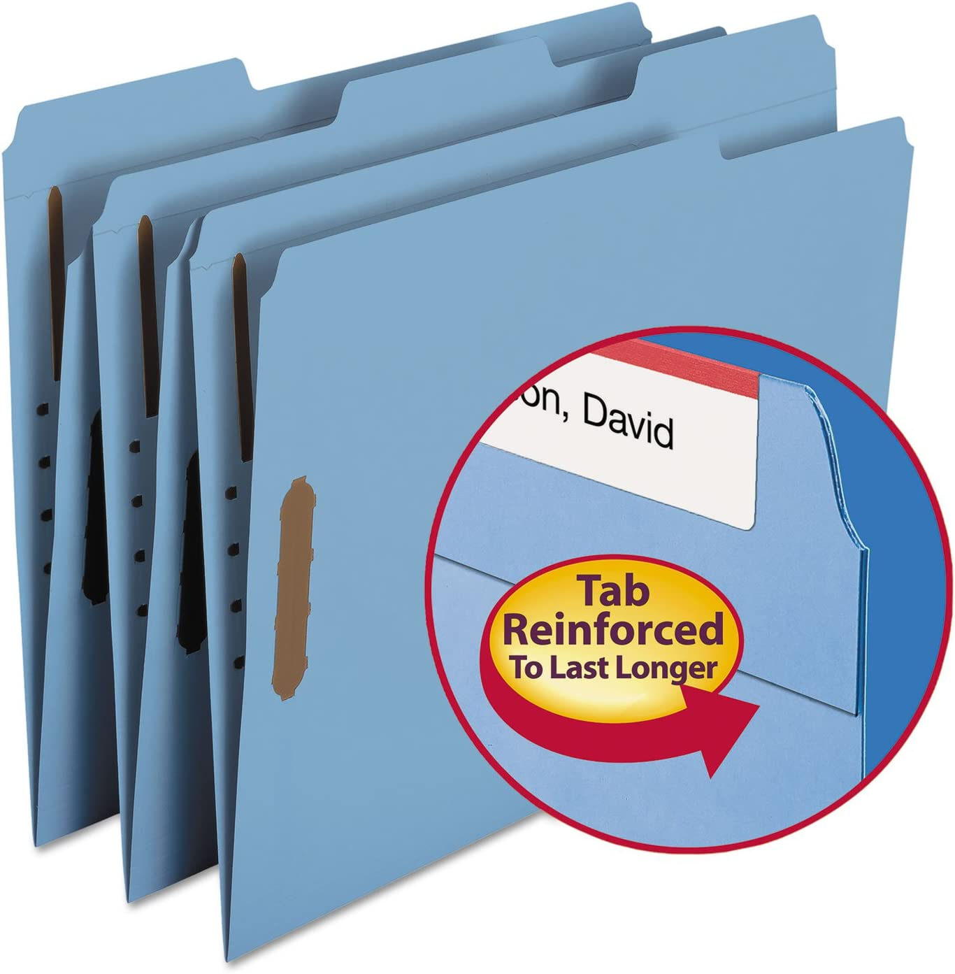 11 pt Blue Folders 1 3 Cut - Letter Assorted Tab Ranking TOP14 Size Max 75% OFF Fas Top