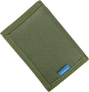 JEMINAL New Mens Canvas Trifold Wallets for Boys Purse with id window