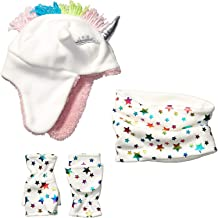 Amazon Brand - Spotted Zebra Girls Fleece Hat Mittens Cold Weather Accessories Sets