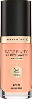 Facefinity All Day Flawless 3-in-1 Liquid Foundation 064 Rose Gold