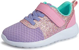 Girls Glitter Sneakers Toddlers Sparkle Fashion Tennis...