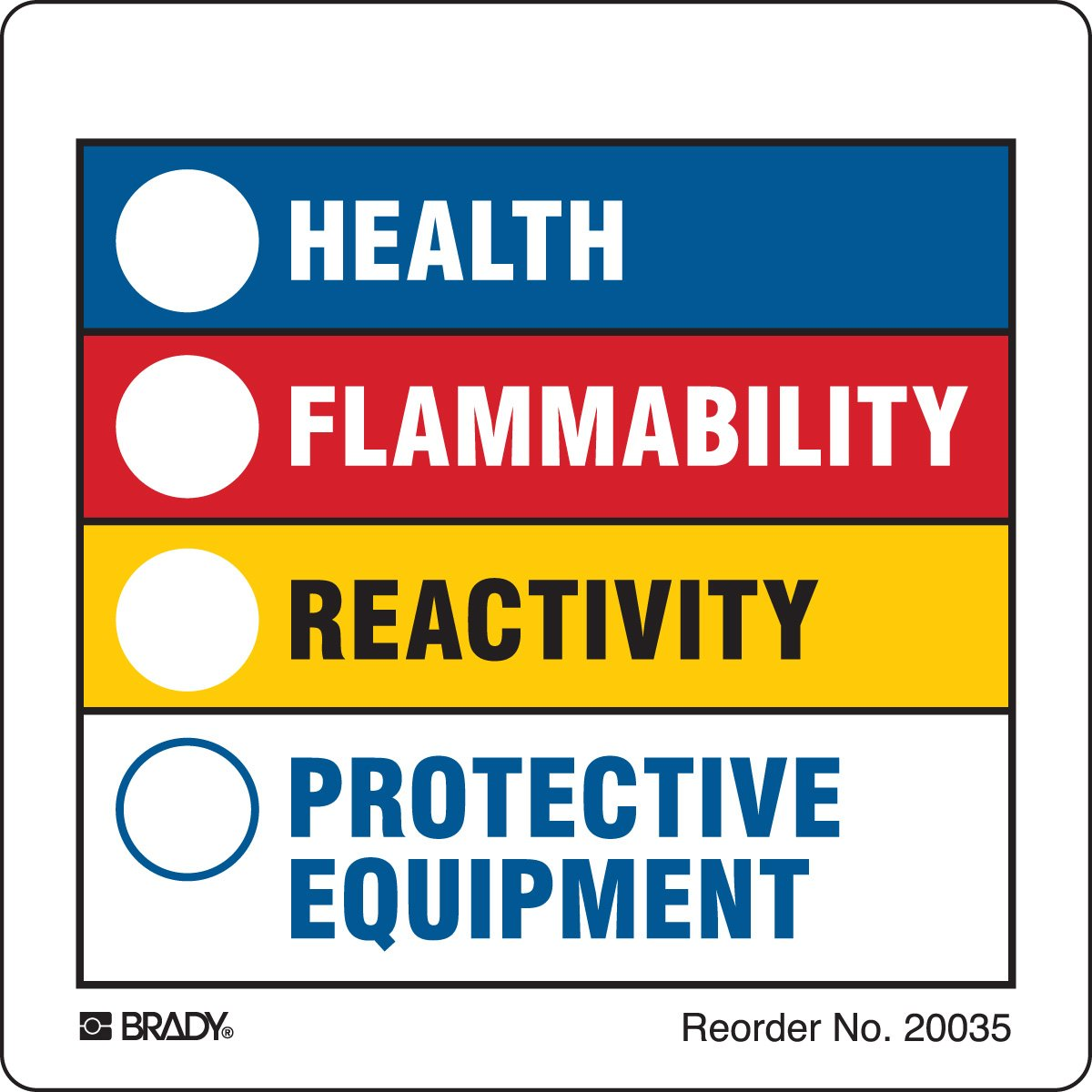 Brady-20035LS Hazardous Communication Popular overseas Labels 4 years warranty Right-to-Know and