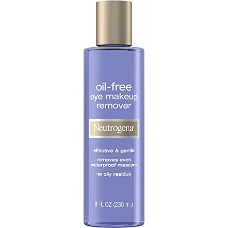 Neutrogena Gentle Oil-Free Eye Makeup Remover & Cleanser for Sensitive Eyes, Non-Greasy Makeup Remover, Removes Waterproof Mascara, Dermatologist & Ophthalmologist Tested, 8.0 fl. oz.