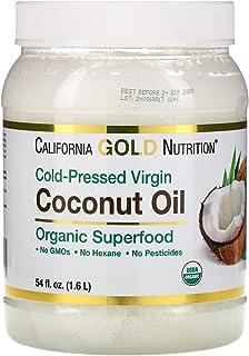 California Gold Nutrition コールドプレスオーガニックバージンココナッツオイル 1 6 L 54 fl oz