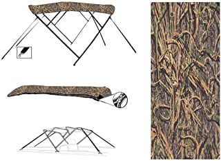 8 oz 4 Bow Camouflage Mossy Oak Shadow Grass CAMO Boat Bimini TOP Sunshade for Voyager Super 25 Cruise 2004-2008
