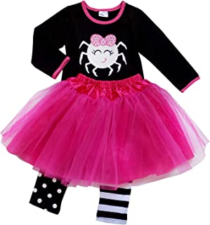 Girls Kids Toddler Tulle Tutu Skirt & Top Socks Novelty Costume Outfit