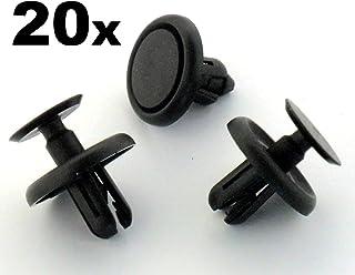 20 x Remaches Plásticos - Clavija Ajuste Plástico para Revestimiento Interior Rueda y Bandeja Motor