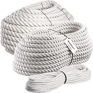 Seilwerk STANKE Baumwollschnur 30mm, Baumwollseil für Schaukel Baumwollkordel handgedreht, 5m