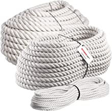 Seilwerk STANKE 40m Katoenen touw 30mm hangemaakt natuurlijk touw