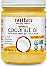 Nutiva Organic, Refined Coconut Oil with Butter Flavor, 14-ounce (Pack of 2)