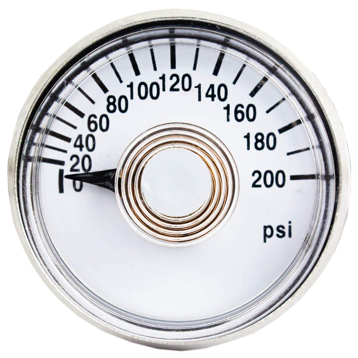 Sale Special Price Rolair 200 Long-awaited PSI Air Compressor Gauge GA0125200 Rear Mount Back Re