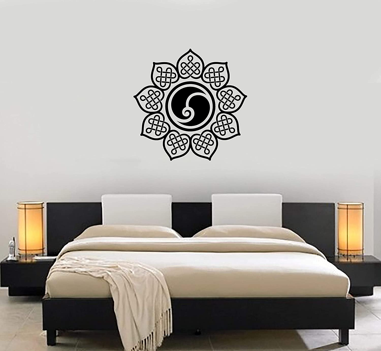 Max 73% OFF Vinyl Decal Mandala Yoga Special price Hinduism Zen Yang Mur Yin Stickers Wall