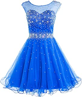 Women's Short Beading Homecoming Dress for Juniors A Line Prom Ball Gown