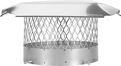 Draft King SS10U Round Bolt On Stainless Steel Single Flue Chimney Cap, 10