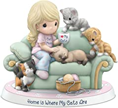 The Hamilton Collection Precious Moments Cats and Cat Lover Porcelain Figurine