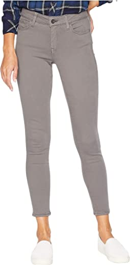 Adriana Ankle Mid-Rise Skinny in Granite Grey