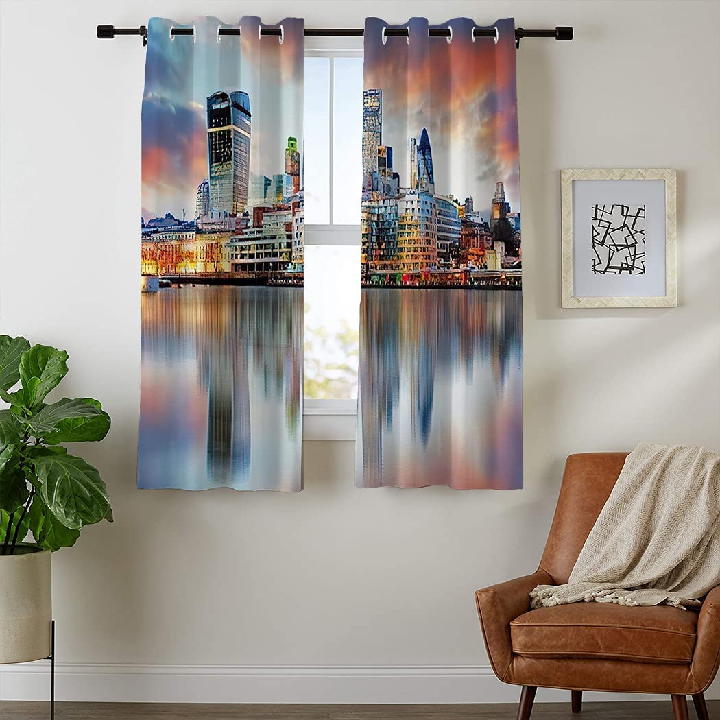 Atomack Bridge Ranking TOP1 Skyline Blackout Grommet Directly managed store Length 63 Inch Curtains