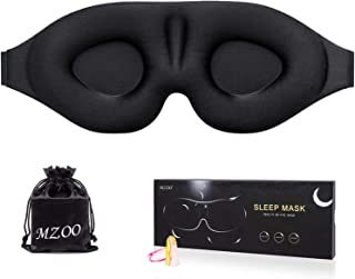 Sleep Eye Mask for Men Women, 3D Contoured Eye Cup Sleeping Mask & Blindfold with Ear Plugs Travel Pouch, Concave Molded Night Eye Shade, Block Out Light, Soft Comfort Eye Cover for Yoga Meditation