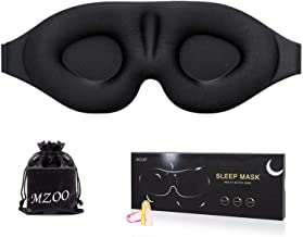 MZOO Sleep Eye Mask for Men Women, 3D Contoured Cup Sleeping Mask & Blindfold, Concave Molded Night Sleep Mask, Block Out ...