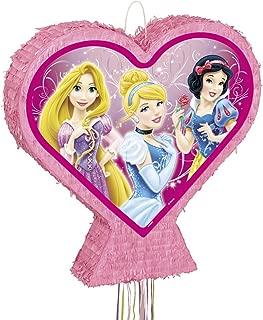 Heart-Shaped Disney Princess Pinata, Pull String