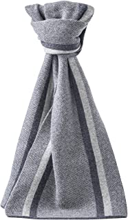 Dolcevida Men's Wool Stripes Scarf Soft Warm Cashmere Wrap