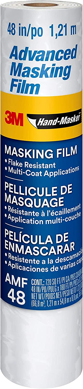Scotch Painter's Tape, AMF48, 1 roll 3M Hand-Masker Advanced Masking Film, 48 inches x 180 Feet, 48