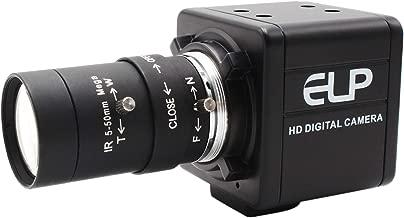5-50mm Varifocal Lens Webcamera Full HD 1080P USB Camera High Speed VGA 100fps USB with Camera CMOS OV2710 Sensor Industrial Video Camera with Aluminum Mini Case Play & Plug Free Drive