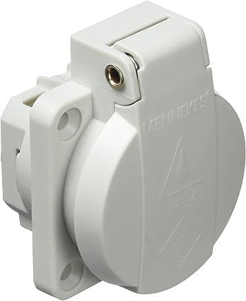 prises de courant Schuko Mennekes 101700018/bases Schuko Borna rapide 16/A//230/V gris IP 54/degr/é de protection