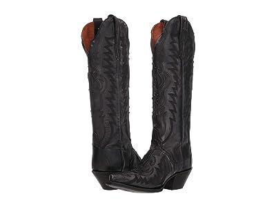 Dan Post Hallie (Black Distressed) Cowboy Boots