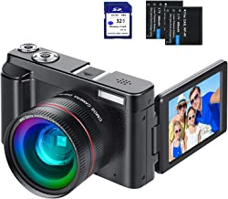 Digital Vlogging Camera YouTube Vlog Camera HD 1080P 30FPS 24MP Camcorder with 3.0