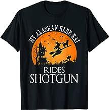 Alaskan Klee Kai Rides Shotgun Dog Lover Halloween Gift T-Shirt