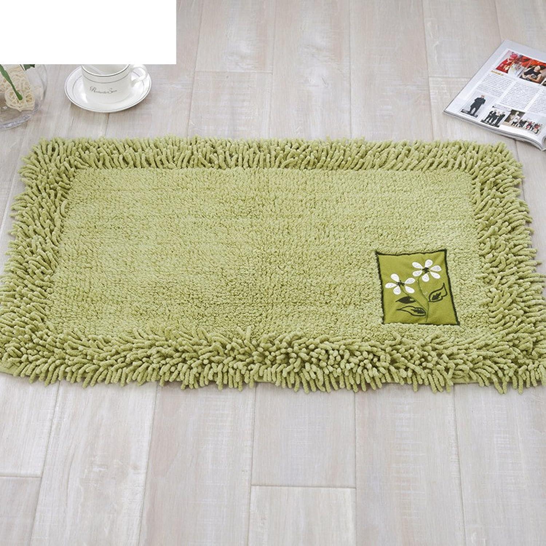 Doormat [Cotton],Chenille,Bedroom mats Doormat Bathroom mat Thicken,[Absorbent],Non-Slipping mats-D 60x90cm(24x35inch)