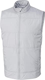 Suncolor8 Men Sleeveless Pure Color Warm Winter Down Quilted Jacket Coat Vest