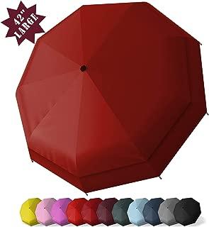Windproof Large Travel Umbrella 一 52/42 inchTwo Size Automatic Unbreakable Umbrella, Men&Women Totes Umbrella