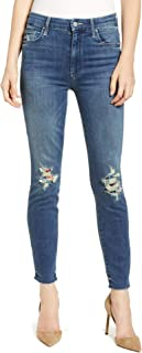 MOTHER Denim The Looker High Waist Frayed Ankle Skinny Jeans