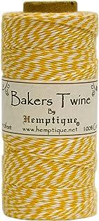 Hemptique BTS2YEL-W Baker's Twine Spool, Yellow and White