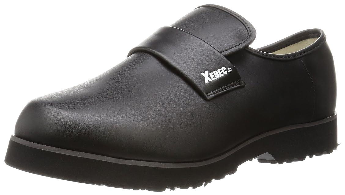 レイ電子レンジ天才安全靴 85660 耐油性 超軽量厨房シューズ ブラック 22.0 cm
