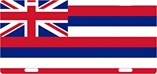 Fast Service Designs Hawaii State Flag Custom License Plate Hawaiian Emblem Version # 1