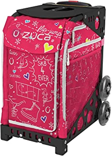 """ZUCA """"Pink SK8"""" Sport Insert Bag and Rolling Frame with Built-in Seat – Choose Your Color!"""