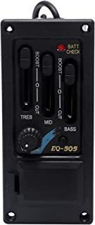 Metallor 3 Band EQ Equalizer Preamp Amplifier Unit Pickup Tuner for Acoustic Guitar with Piezo Pickup and End Pin Jack.
