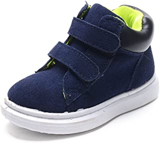 10d9b87d3d66 UBELLA Kids Boy s Girl s Suede Leather Strap Winter Ankle Boots (Toddler Little  Kid