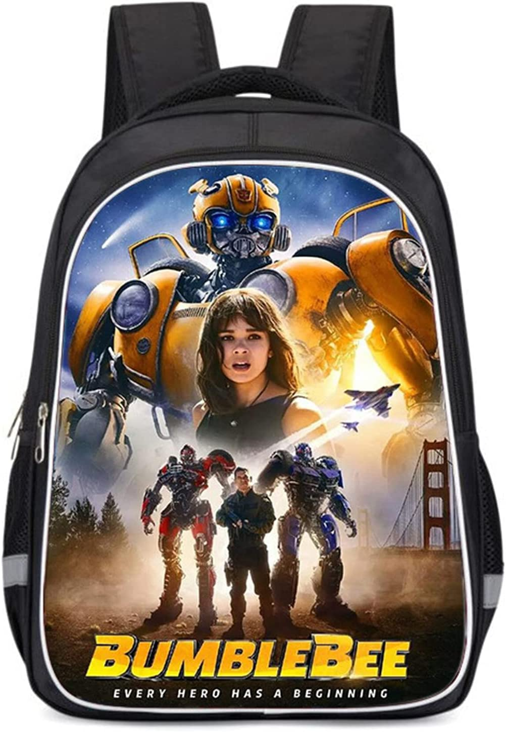 CZanLGD Store Kids Transformers Student A surprise price is realized Schoolbag-Waterproof Bumblebee