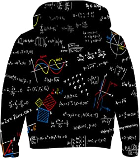 uideazone Boys Girls 3D Print Graphic Sweatshirts Long Sleeve Cotton Pullover Hoodies with Pocket 3-12Y