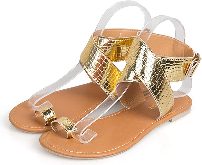 Jhdnhse Women Sandals Cross Belt Low Heel Flat Sandals Summer Beach Women shoes Sandalias women Size 35-43