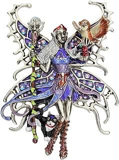 Kirks Folly SHE Goddess Warrior Goddess Fairy PIN PENDANAT silvertone