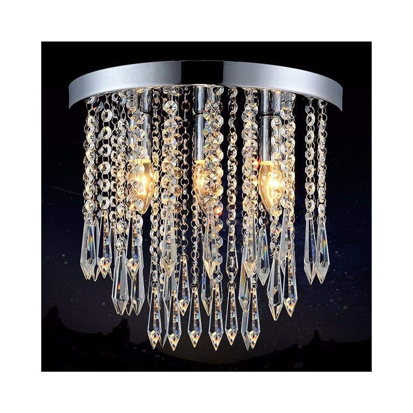 お互い名誉あるシャーロックホームズ安全な 導かれた天井灯の水晶天井灯の通路のバルコニーの光沢の導かれたライト、85V-240V 耐久性 (Body Color : Diameter 25cm 4 bulb)