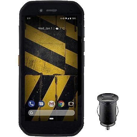 """CAT S42 Smartphone (13,97cm (5,5"""") Pantalla HD+, 32 GB de Memoria Interna (Ampliable a 128 GB) y 3 GB de RAM, Dual-SIM, Android 10) - Edición Exclusiva para Amazon, Incl Adaptador de Coche 12V, Negro"""