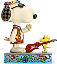 Enesco Peanuts by Jim Shore Snoopy and Woodstock Concert Goers Figurine, 5.8 Inch, Multicolor